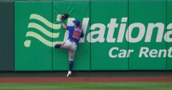 WATCH: Rafael Ortega makes superb catch, collides with wall in center field