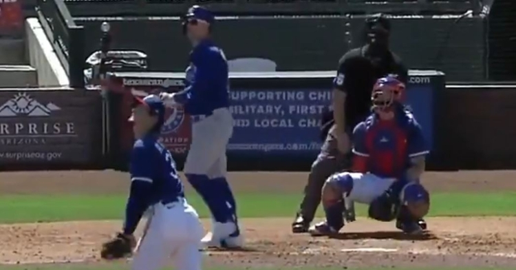 Pederson hit his 8th homer of spring on Sunday