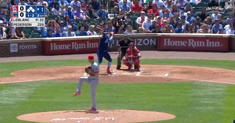 With two outs and the bases juiced, Joc Pederson hit a go-ahead three-run double to right field.