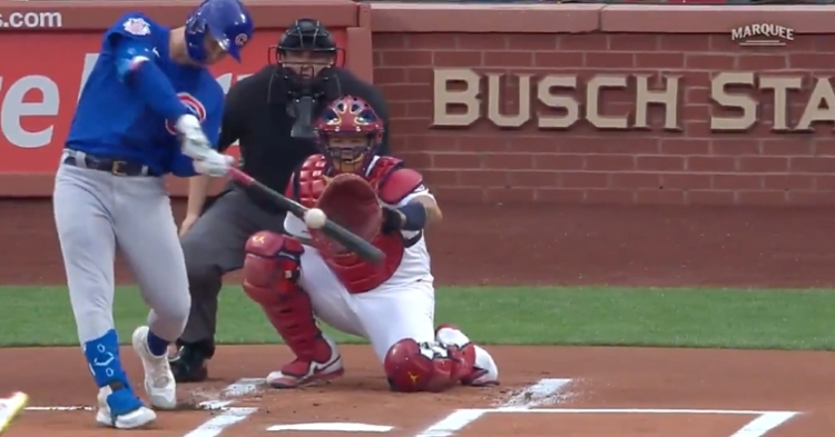Joc Pederson became the first Cub to go yard on the first pitch of the game since fellow left fielder Kyle Schwarber did so in 2019.