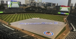 Weather delay in ninth inning at Wrigley Field