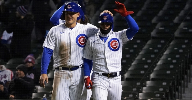 The Cubs were happy after a 16-run performance (David Banks - USA Today Sports)