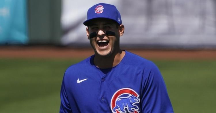 Rizzo was having fun during pregame (Rick Scuteri - USA Today Sports)