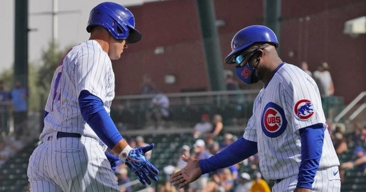 Rizzo smashes his first homer of spring (Photo via Marquee Sports)