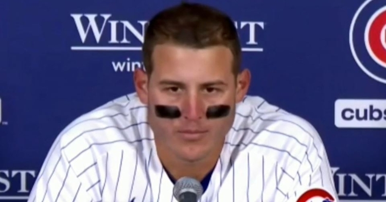 Rizzo speaking to reporters after the loss
