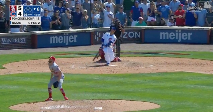 Energizing the Wrigley Field crowd, Anthony Rizzo smacked a game-tying blast on the 14th pitch of an at-bat.