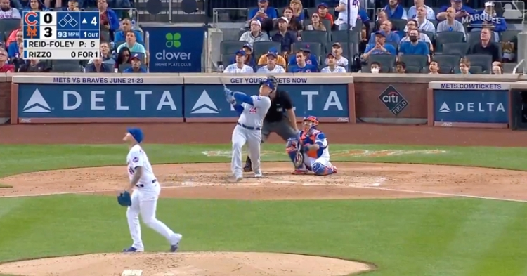 Anthony Rizzo got underneath a fastball and belted it into the upper deck at Citi Field.