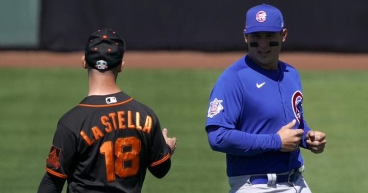 Rizzo and La Stella reunited (Rick Scuteri - USA Today Sports)