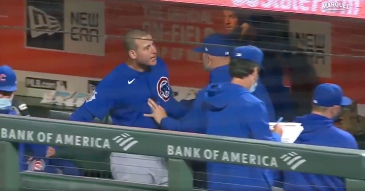 Rizzo was unhappy with Contreras in the dugout