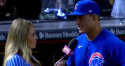 WATCH: Anthony Rizzo reacts to being No. 6 on Cubs all-time home run list