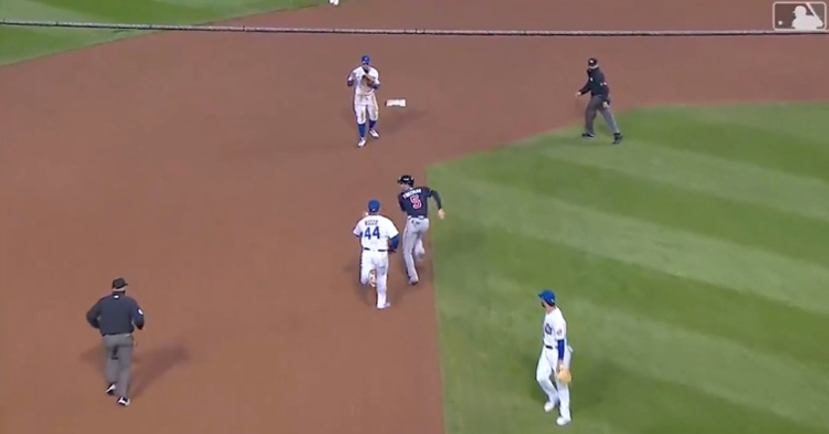 Anthony Rizzo chasing after fellow first baseman Freddie Freeman in a rundown made for a viral moment.