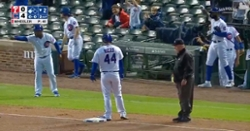 WATCH: Anthony Rizzo hits RBI triple shortly after rain delay