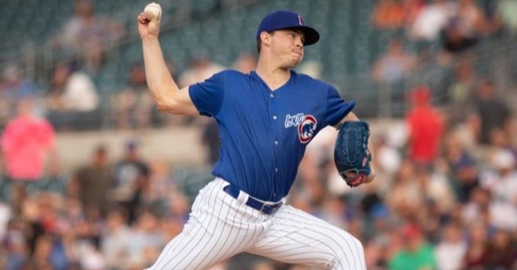 Keegan Thompson didn't allow a run (Photo via Iowa Cubs)