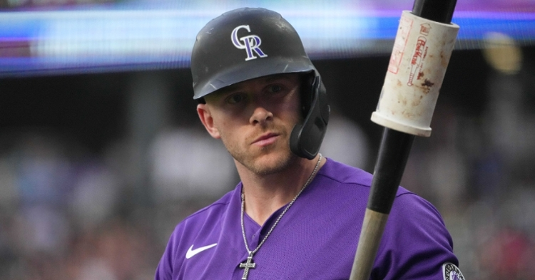 Rockies shortstop Trevor Story was effusive in his praise of Cubs fans and Wrigley Field. (Credit: Ron Chenoy-USA TODAY Sports)