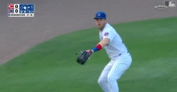 WATCH: Patrick Wisdom shows off his arm by gunning down baserunner from left field