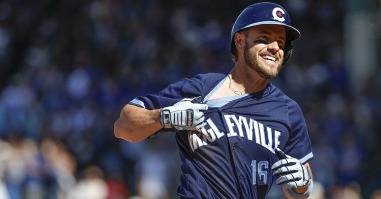 Wisdom happy after his two-run homer (Kamil Krzaczynski - USA Today Sports)