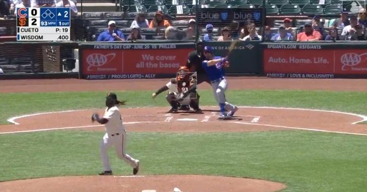 Cubs newcomer Patrick Wisdom has slugged a career-high six home runs so far this season.