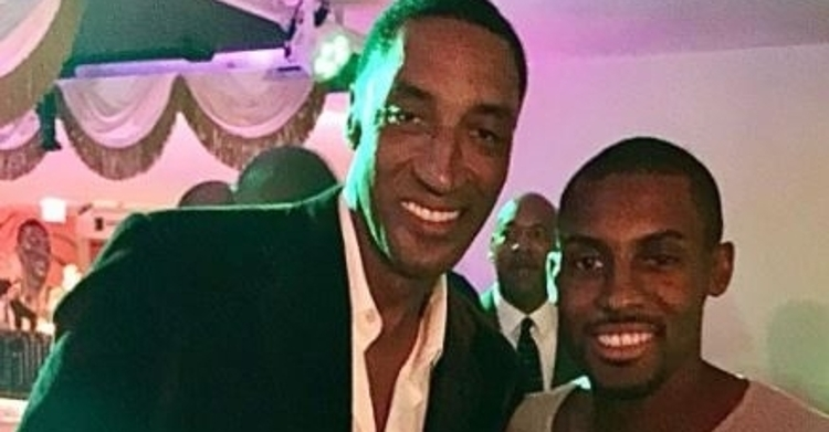 Scottie Pippen with his oldest son Antron (via IG)