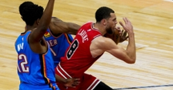 Zach LaVine drops 40 points in blow-out win over Thunder