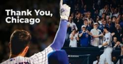 WATCH: Kris Bryant sends heartfelt 'thank you Chicago' video