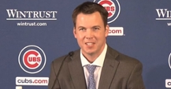 WATCH: Cubs introduce Carter Hawkins as new general manager