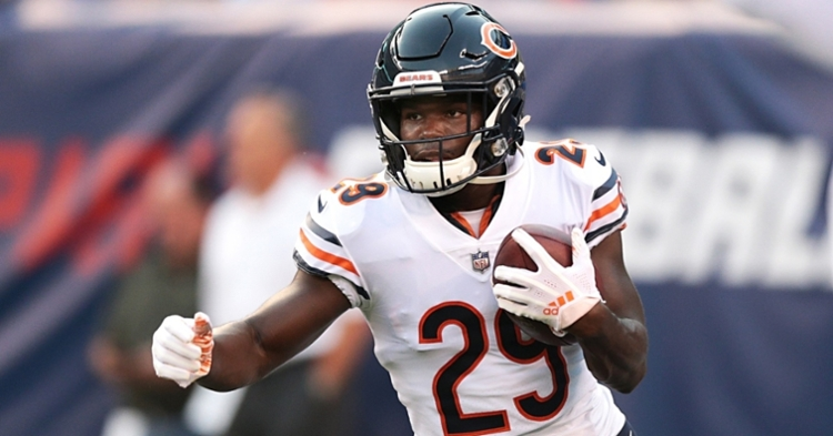 Bears running back Tarik Cohen lost his twin brother, Tyrell, in a tragic accident. (Credit: Vincent Carchietta-USA TODAY Sports)