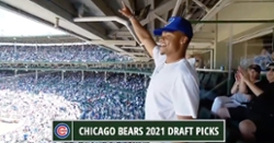 WATCH: Justin Fields receives rousing ovation at Wrigley Field