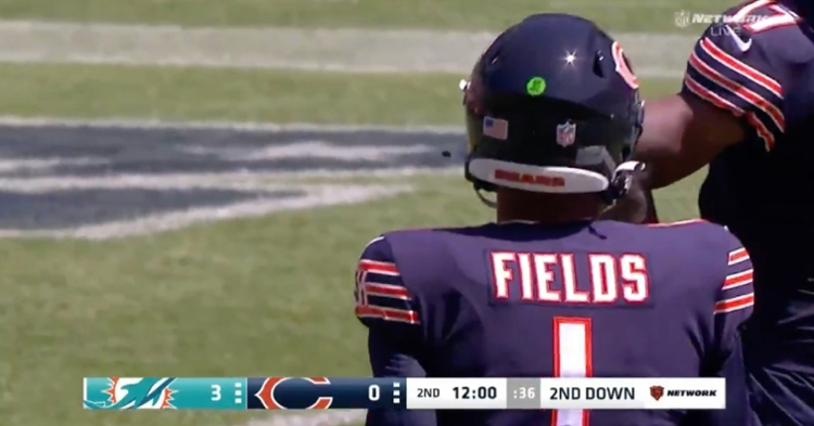 Fans at Soldier Field were pumped up when rookie Bears quarterback Justin Fields took the field for the first time.