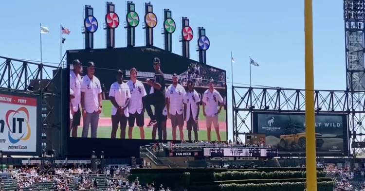 After starring in his Bears debut on Saturday, Justin Fields threw out the first pitch at Guaranteed Rate Field on Sunday.