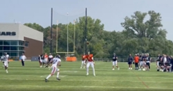 WATCH: Justin Fields makes spectacular sidearm touchdown pass at training camp