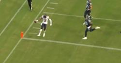 WATCH: Tre Roberson returns interception 27 yards for touchdown