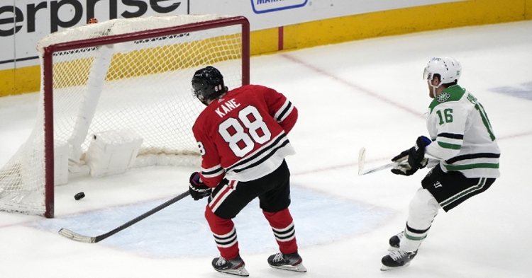 Kane had another solid game against the Stars (Mike Dinovo - USA Today Sports)