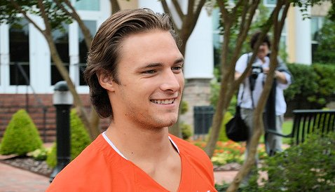 Quarterback Cole Stoudt at the ACC Kickoff on Sunday.