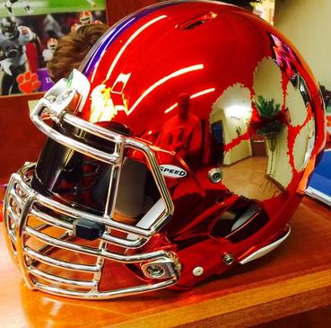 Photo: New Chrome Orange Helmets for Clemson?