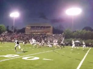 WATCH: Tee Higgins goes 89 yards for pick six