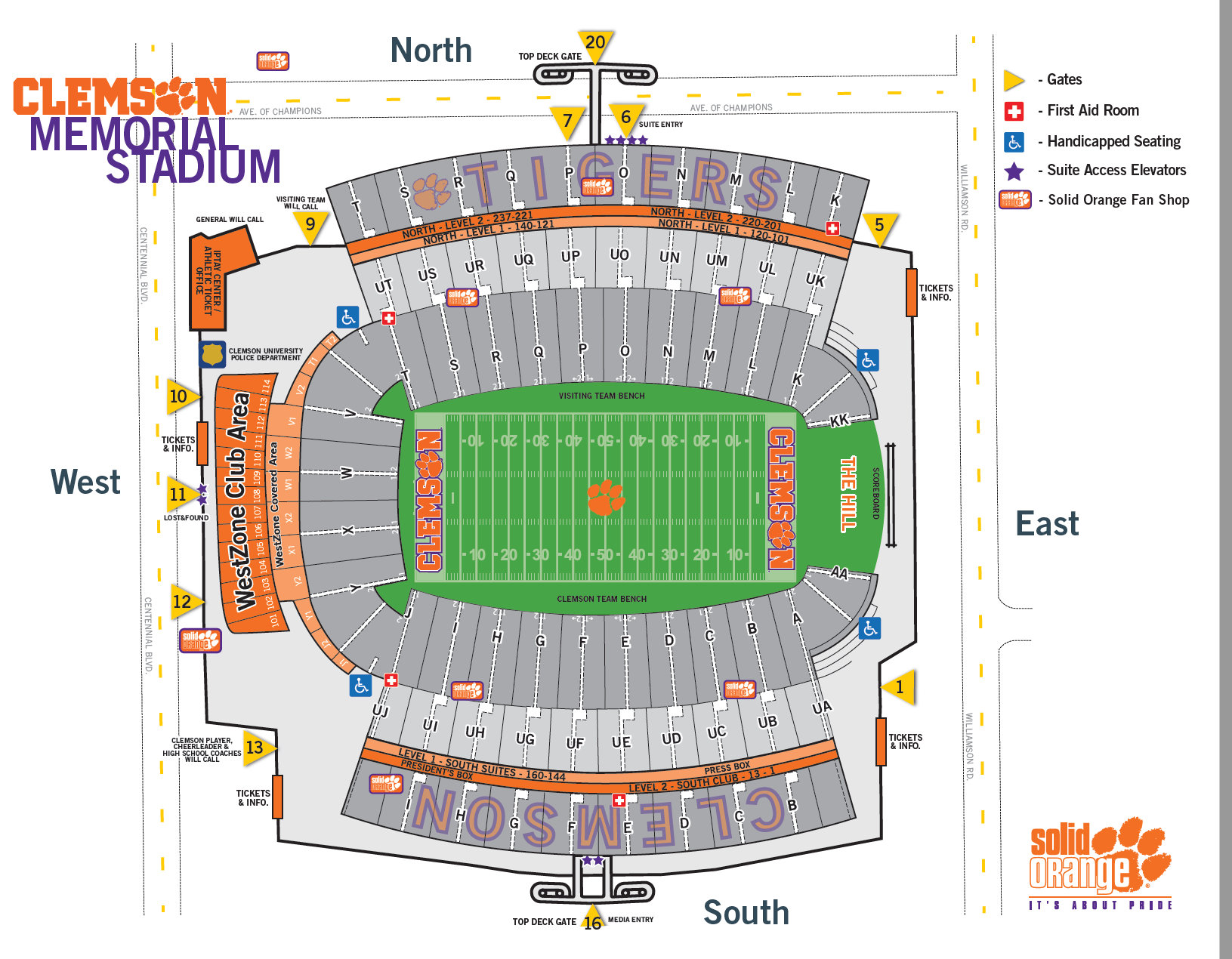 Football seating chart tigernet