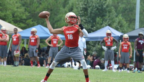 Guarantano is shown here at the Byrnes 7on-7 a few weeks ago