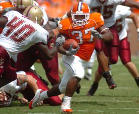 Reggie Merriweather had 77 yards on 15 carries for the Tigers.
