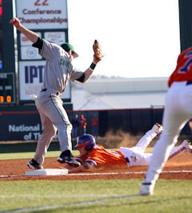 Addison Johnson returned to the Tiger lineup with a game-high three hits and #19 Clemson stole nine bases en route to an 8-3 victory. (Photos: fotoman)