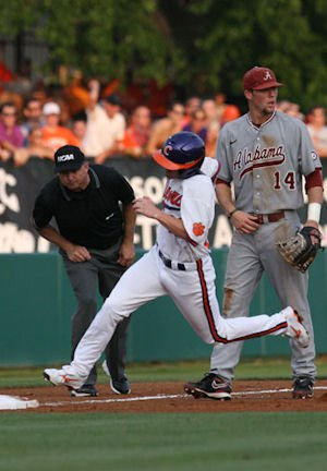 Wilson Boyd heads for home in Clemson Super Regional action on Saturday.  (Photos: fotoman)