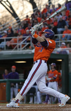 Kyle Parker hit a mammoth 3-run homer for the Tigers in the 7th.  (Photos: fotoman)