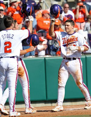 Clemson scored at least two runs in each of the first five innings.