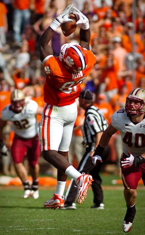 Allen has 65 receptions in his Clemson career, one more than Bennie Cunningham had for the Tigers between 1973-75.