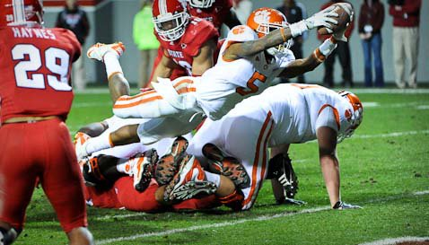 Dabo says Mike Bellamy, shown here against N.C. State, is hanging in there