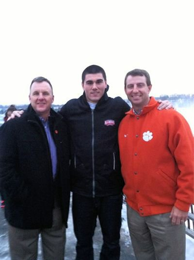Photo of Chad Kelly with Chad Morris and Dabo Swinney posted to Kelly's twitter account.