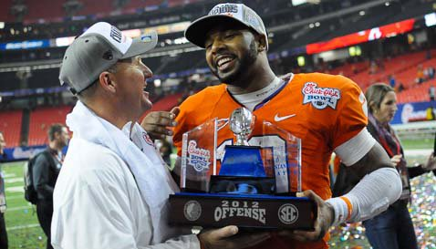 Tajh Boyd won the MVP of the Chick-fil-A Bowl last season.
