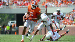 No. 12 Clemson tops Ball St. 52-27 in record-setting day