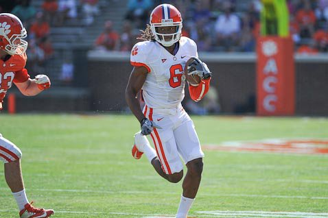 Hopkins caught seven passes for 120 yards and Dabo Swinney called him the MVP of the spring.
