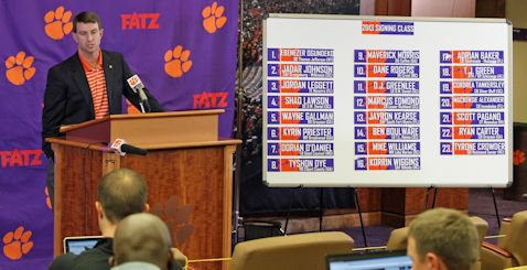 Dabo says Tigers are better after stellar recruiting class