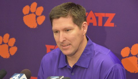 Brownell talks to the media Tuesday